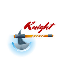 Knight fight game element with ax vector