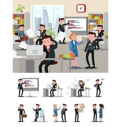 Office Atmosphere Composition vector image vector image