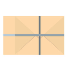 parcel wrapped in paper and tied with twine icon vector image vector image