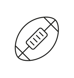 american football ball icon on white background vector image