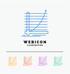 arrow chart curve experience goal 5 color line vector image