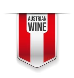 Austrian wine flag ribbon vector