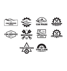 Automotive badges vector