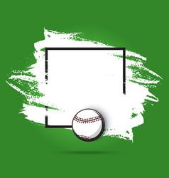 baseball championship poster sport game playoff vector image