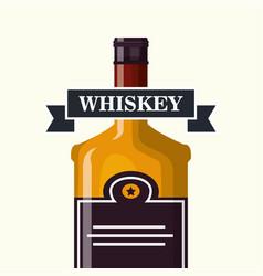 best whiskey bottle label vector image