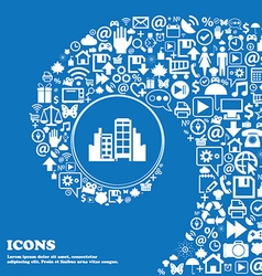 Buildings icon Nice set of beautiful icons vector image