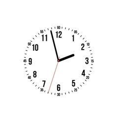 clock on a white background vector image vector image