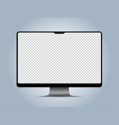 computer mockup transparent display screen vector image