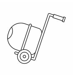 Concrete mixer icon outline style vector