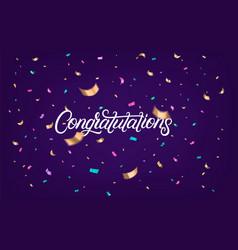 congratulations hand written lettering text vector image