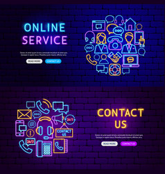 contact us banners vector image