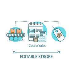 Cost sales concept icon vector
