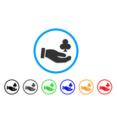 Croupier hand icon vector