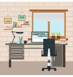 Designer Working Place Composition vector image