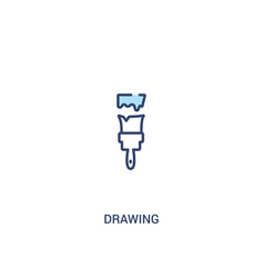 drawing concept 2 colored icon simple line vector image