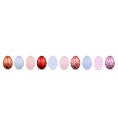 easter egg 3d icon color eggs set isolated white vector image