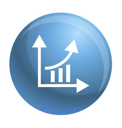 finance graph chart icon simple style vector image