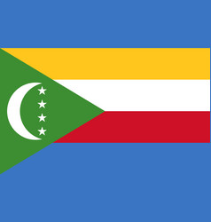 Flag in colors of comoros image vector