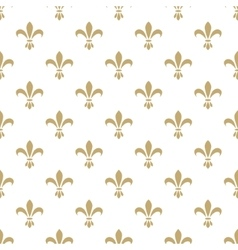 Fleur de lis seamless pattern French vector image