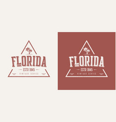florida state textured vintage t-shirt and vector image