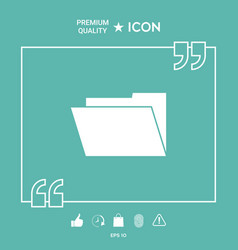folder icon symbol vector image