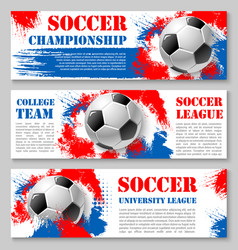 football cup soccer team banners vector image