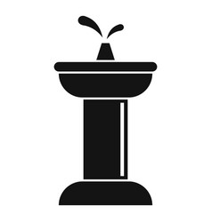 Golden drinking fountain icon simple style vector