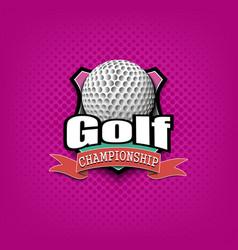 golf logo template design vector image