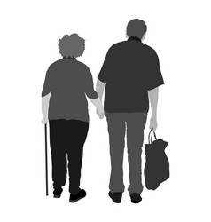 grandfather and grandmother in love active senior vector image