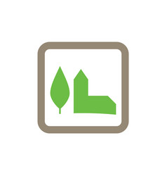 green building icon logo vector image vector image