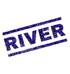 Grunge textured river stamp seal vector
