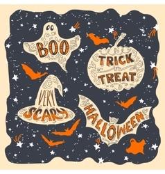 Halloween symbols vector image
