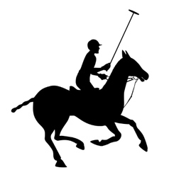 Horse polo silhouette poster vector image