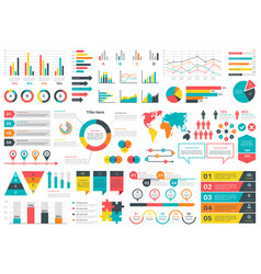 infographics charts financial analysis data vector image