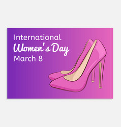 international women day greeting card beautiful vector image vector image