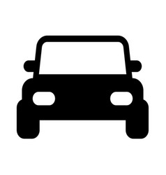 Jeep pickup car front view icon cartoon style vector