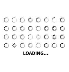 Loading icon big set vector