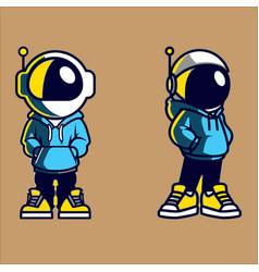 Logo astronout design vector