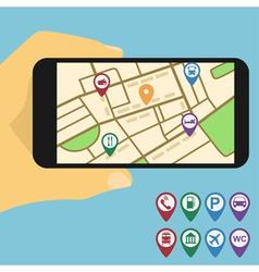 Mobile navigation vector image