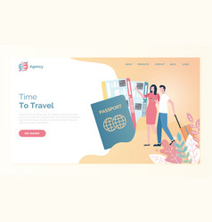online agency time to travel passport vector image