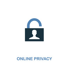 online privacy icon in two colors premium design vector image