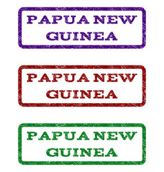Papua new guinea watermark stamp vector