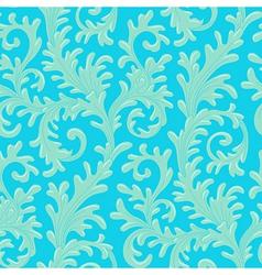 pattern baroque blue vector image