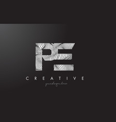Pe p e letter logo with zebra lines texture vector