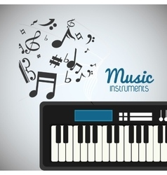 Piano music sound instrument vector