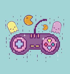 Pixelated retro gamepad vector