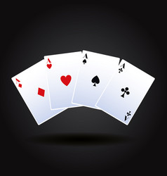 Poker cards game vector