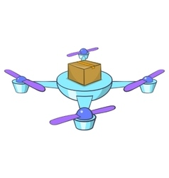Quadcopter icon cartoon style vector
