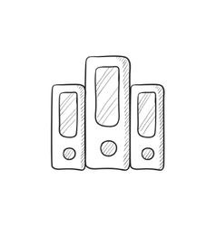 Row of folders sketch icon vector image