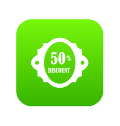 sale label 50 percent off discount icon digital vector image